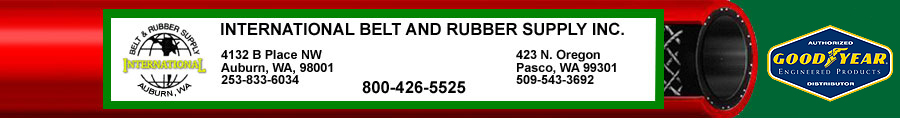 International Belt and Rubber Supply is the Pacific Northwest supplier of Industrial Hose, Conveyor Belts and Rubber Sheet